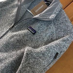 NWT Patagonia better sweater Birch White full zip